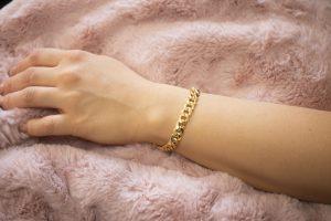 Hollow Cubain Bracelet 8.50mm