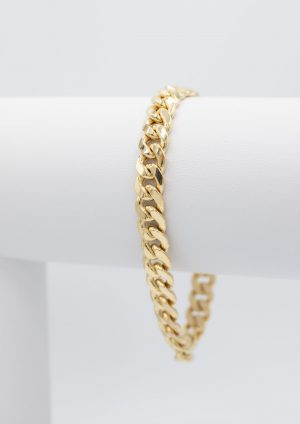 Hollow Cubain Bracelet 8.50mm - side view