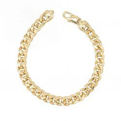 Hollow Cubain Bracelet 8.50mm - top view