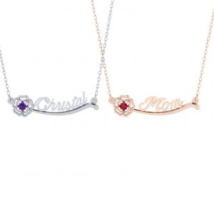 Flower Name Necklace - doubled