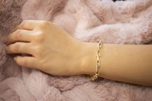 Solid Paper clip Bracelet