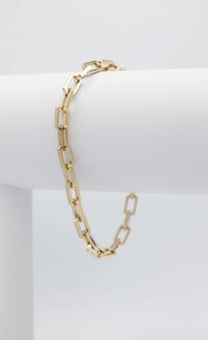 Solid Paper clip Bracelet - side view
