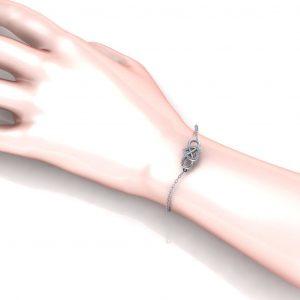 Infinity Heart Bracelet - hand view
