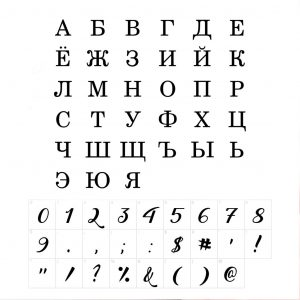 Russian Namenecklace With Personalized Heart Birthstone - font guide