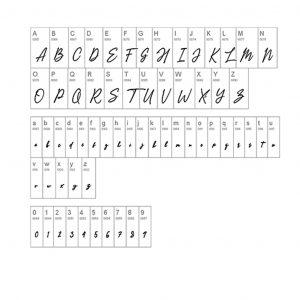 Signature Personalized Namenecklace - font guide