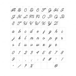 Heart Love Namenecklace - font guide