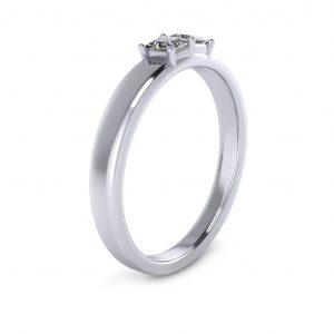 Princess-cut Engravable Multi Stone Ring (3-7 stones) - side view