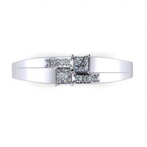 Princess-cut Engravable Birthstone Ring - top view