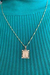 pendant of letter