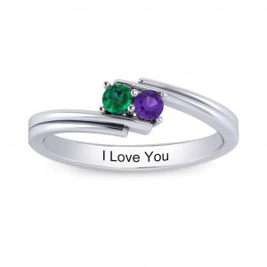 Chic and Simple Birthstone Ring (3-7 stones) - white gold