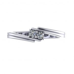 Chic and Simple Birthstone Ring (3-7 stones) - top view