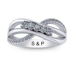 Bypass Birthstone Ring (3-7 stones) - 5 stones