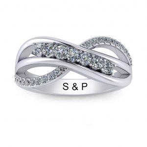 Bypass Birthstone Ring (3-7 stones) - 7 stones