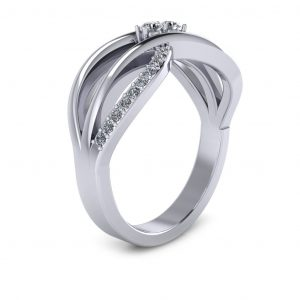 Bypass Birthstone Ring (3-7 stones) - side view